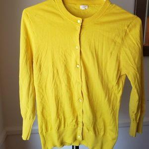J. Crew Yellow Cardigan Size M